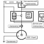 Схема подключения 1-но фазного котла