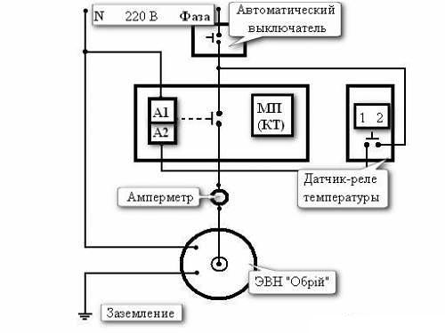 Схема подключения 1-но фазного