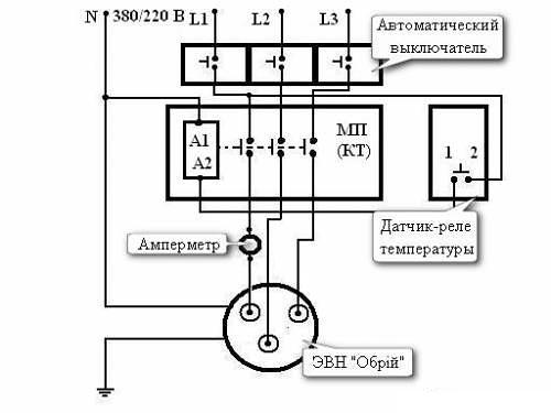 Схема подключения 3-х фазного
